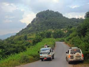 Landstraße durch die Shan Berge