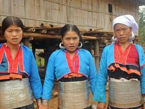 Silber Palaung Frauen bei Kengtung