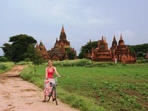 Fahrradfahren in Bagan