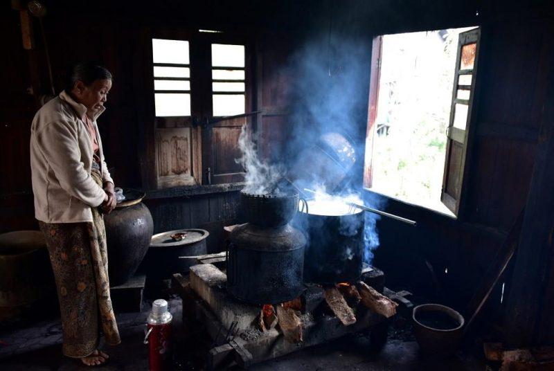 Küchenraum mit Kochstelle