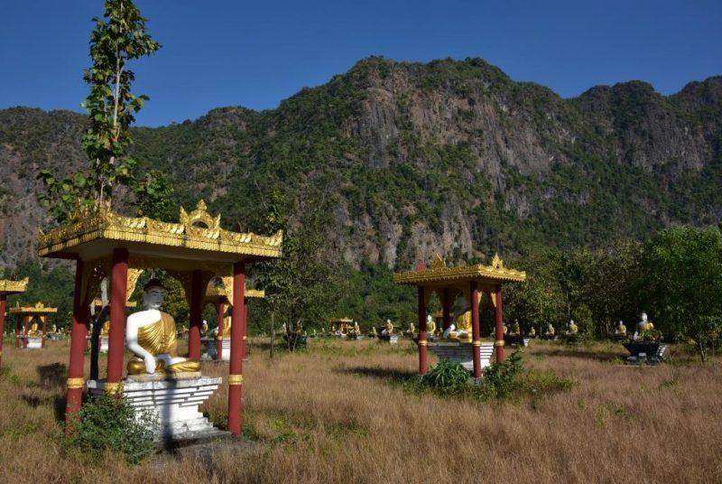 Budhistische Schreine am Mount Zwekabin, Hpa An