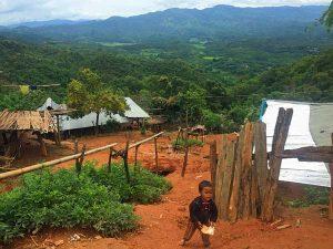 Ein Akha Dorf bei Kengtung