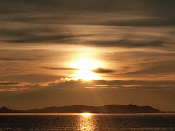 Sonnenuntergang in Mawlamyine