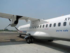 Flugzeug in Myanmar