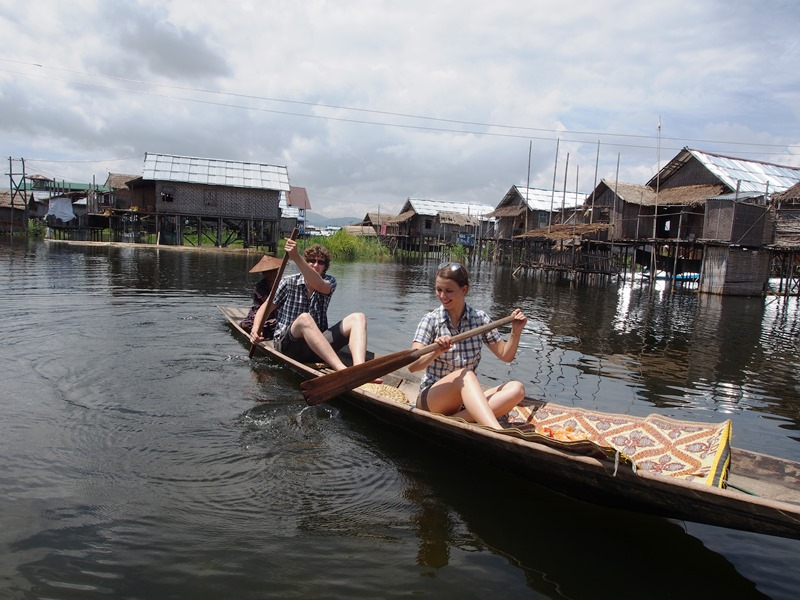 Myanmar und Thailand - Inle See Bootstour Kayak