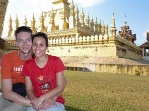 Urlaub in Laos - zu Besuch bei der Stupa That Luang in Vientiane