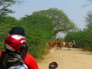 Motorrad Safari durch kleine Dörfer