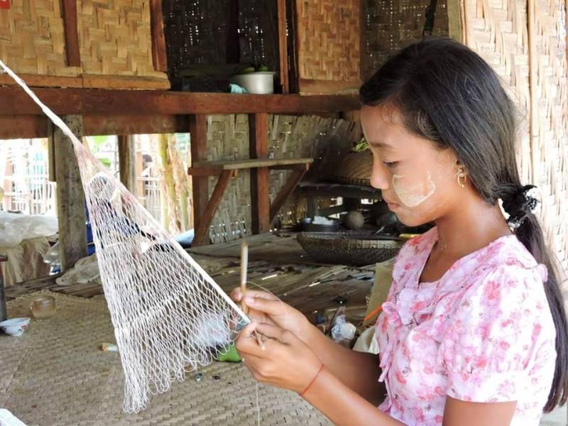 Herstellung von Fischernetzen