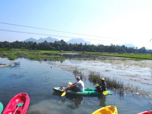 Myanmar Strand Rundreise: Kajakfahrt in der Umgebung von Hpa An