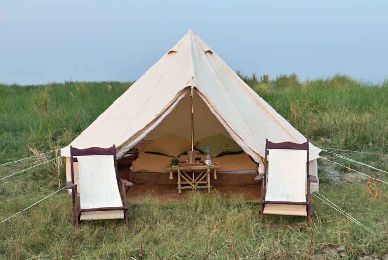 Camping am Irrawady Fluss