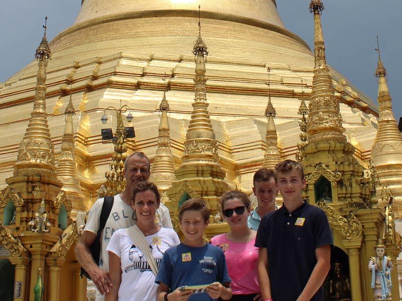 Yangon Shwedagon Myanmar Familienrundreise mit Kindern
