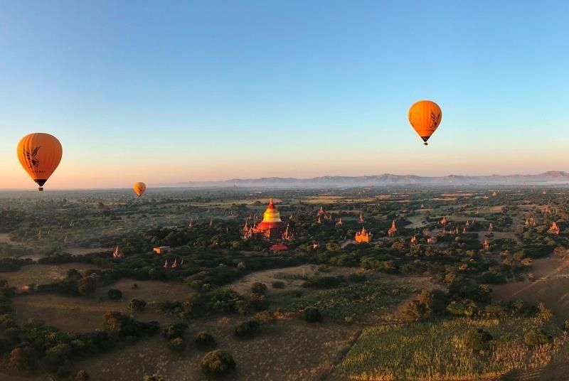 Myanmar Reise zusammenstellen - Ballonfahrt über Bagan