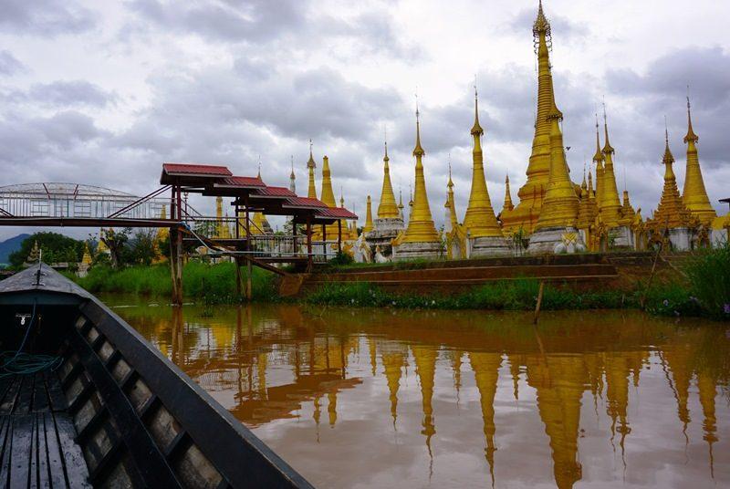 Myanmar Reise zusammenstellen_Pagoden auf dem Inle See