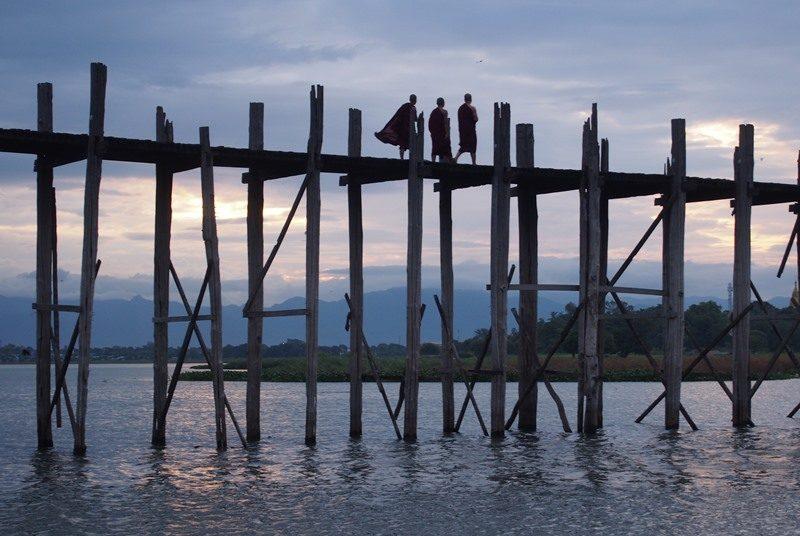 Myanmar Reise zusammenstellen_U Bein Brücke bei Mandalay