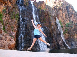 Twin falls tijdens je groepsreis Noord Australië