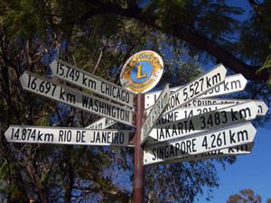 Afstanden vanuit Alice Springs Outback Australië