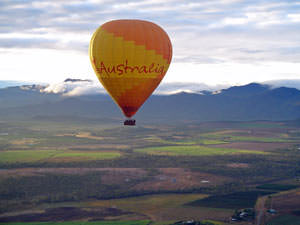 Ballonvaart over de Tablelands