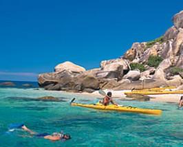 Kayakken bij Fitzroy Island