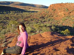 De uitgestrekte Outback van Australië