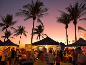 Nacht markt in Darwin Australie