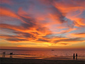 Zonsondergang in Darwin