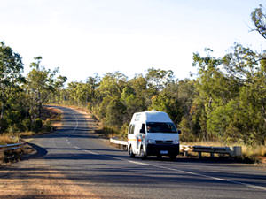 Camper Australië - Motorhome on the road