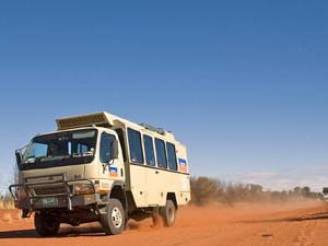 Je vervoer in de Outback naar Kings Canyon