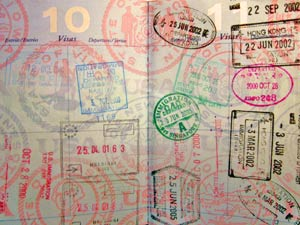 Paspoort stempels Australie
