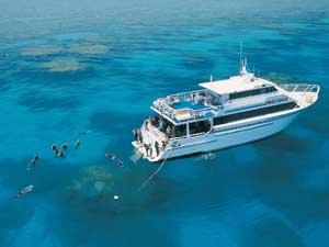 Australië duiken - Cairns boot zwemmen