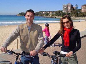 Australie oostkust, fietsen Manly