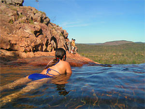 Outback Darwin, natural pool
