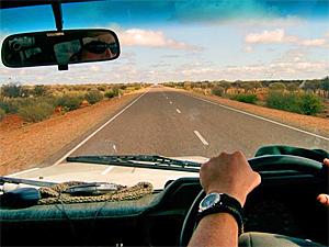 rijdend door Australie