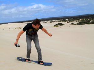 Groepsreis Kangaroo Island sandboarden