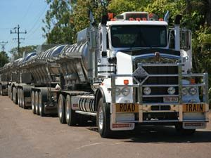 Road train in West Australie