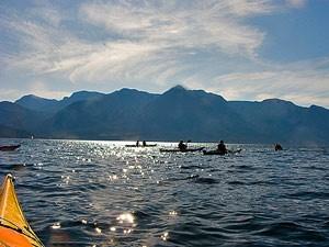 Quadra-Island-Sonnenuntergang-Kajak