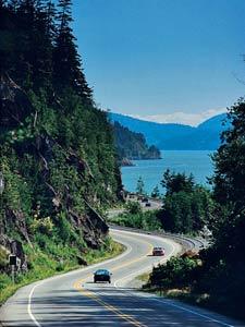 Highway von Vancouver nach Whistler
