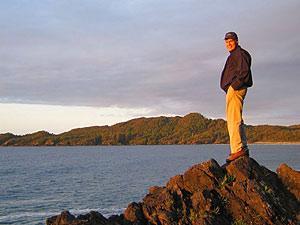 Blick über die Küste bei Tofino