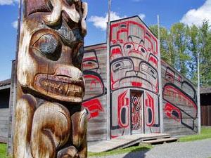 Totempole in Westkanada