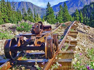 Bahnschiene Kanada