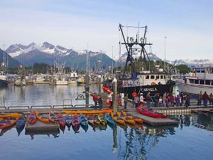 Der Hafen von Valdez am Prince William Sound