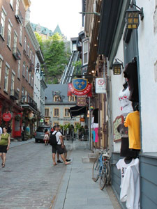 In der Unterstadt von Quebec