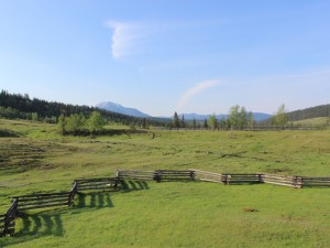 Weitläufiger Ausblick von der Ranch