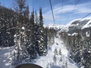 Gondel Sunshine Village Banff Winterurlaub Kanada