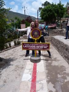 Auf der offiziellen Nulllinie am Äquator