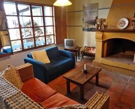 Gemütlicher Aufenthaltsraum im Hotel in Otavalo