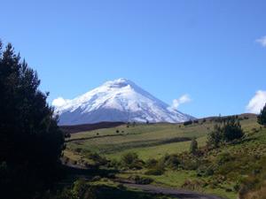 Blick auf den höchsten aktiven Vulkan der Erde im Cotopaxi Nationalpark