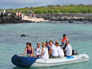 Bootstransfer auf den Galapagos Inseln