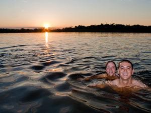 Ein erfrischendes Bad in der Lagune