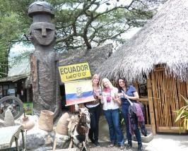Äquator in der Nähe von Quito