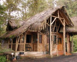 Eingang der Lodge